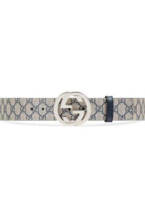 Gucci Uomo Cinture - Cintura in tessuto GG Supreme con fibbia GG