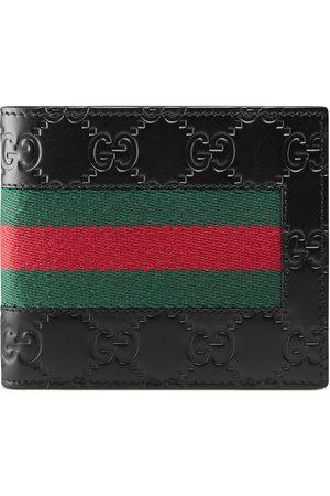 Gucci Uomo Portafogli e portamonete - Portafoglio in pelle Signature con dettaglio Web