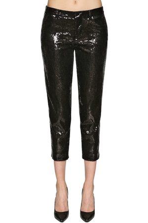 Dsquared2 Donna Pantaloni - Pantaloni Cropped Con Paillettes