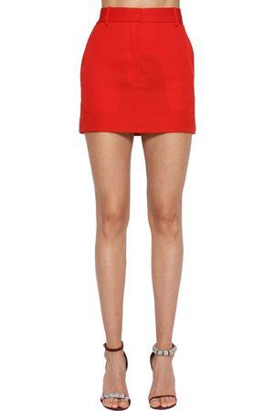 Calvin Klein Minigonna In Gabardina Di Lana