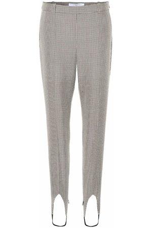 Givenchy Pantaloni in lana con staffe