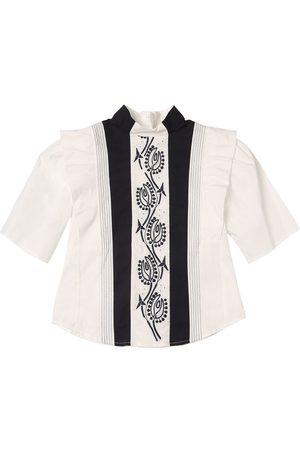Chloé Camicia In Popeline Di Cotone Con Ricami