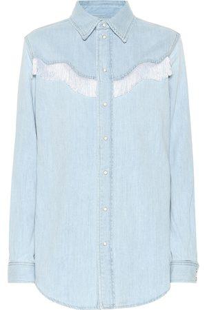 Ganni Camicia di jeans con frange
