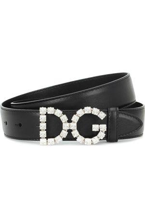 Dolce & Gabbana Cintura in pelle con cristalli