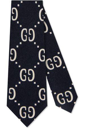 Gucci Bambino Cravatte - Cravatta in seta e lana con motivo GG