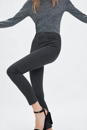 Zara Leggings a vita alta con bottone