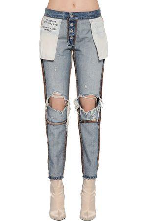 UNRAVEL Jeans Reversibili In Denim Di Cotone