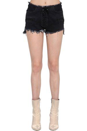 UNRAVEL Shorts In Denim Di Cotone