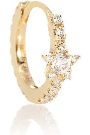 Maria Tash Orecchino singolo Diamond Star Eternity in giallo 18kt con diamanti