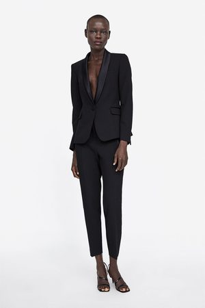 Zara BLAZER STILE SMOKING REVERS COMBINATO