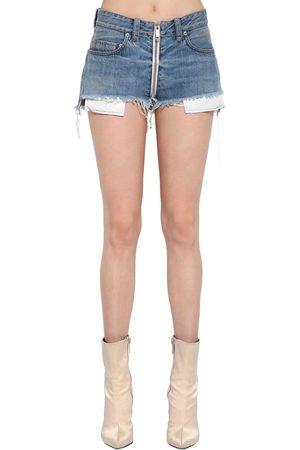 UNRAVEL Shorts In Denim Di Cotone Stretch
