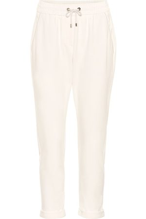 Brunello Cucinelli Pantaloni in cotone stretch