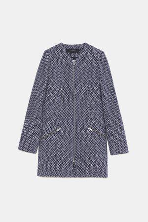 Zara TEXTURED FROCK COAT WITH ZIPS