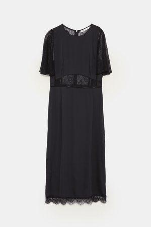 Vestiti Cerimonia Zara On Line.Vestito Lungo Con Pizzo
