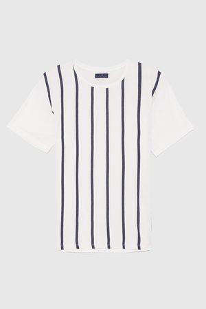 Zara T-shirt - MAGLIETTA RIGHE VERTICALI