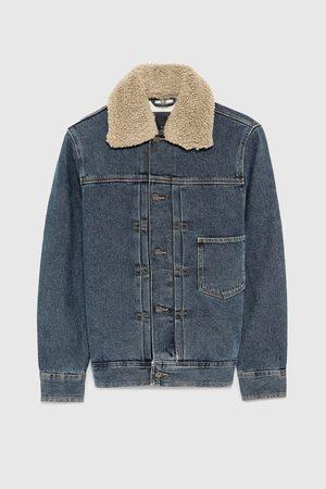 Zara Giacche di jeans - GIUBBOTTO DENIM PIEGHE COMBINATO