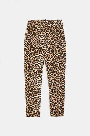 Zara Pantaloni modello chino con stampa animalier