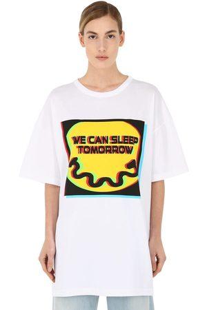 "Maison Margiela T-shirt ""sleep Tomorrow"" In Jersey Di Cotone"