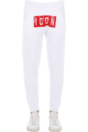 "Dsquared2 Pantaloni ""icon"" In Felpa Di Cotone"