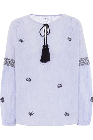 Velvet Blusa in cotone con nappina
