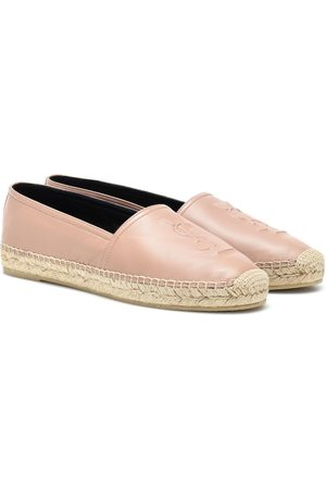 Saint Laurent Espadrillas Monogram in pelle