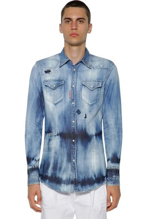 Dsquared2 Camicia Western In Denim Di Cotone