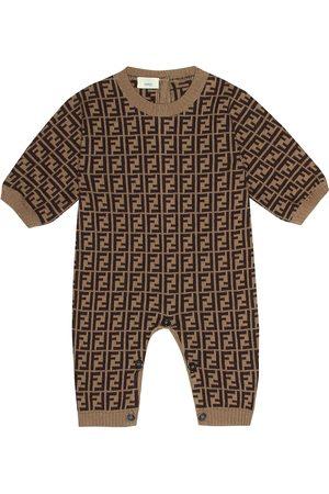 Fendi Tutina in cotone, cashmere e lana