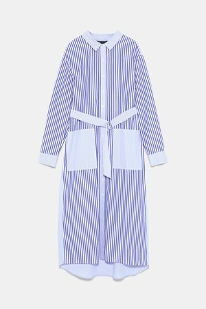 Zara Vestito chemisier a righe