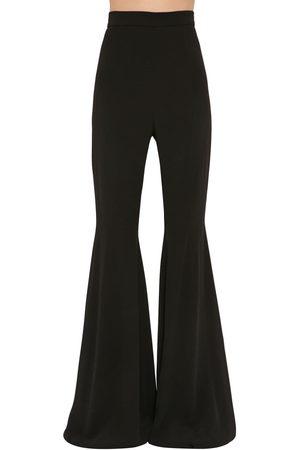 Balmain Pantaloni Vita Alta In Crepe