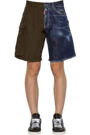 Dsquared2 Shorts In Cotone Ripstop E Denim