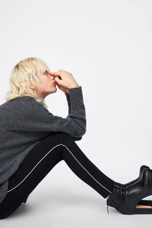Zara LEGGINGS CON STRISCIA BRILLANTE