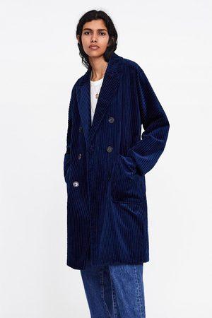 Zara Double-breasted corduroy coat