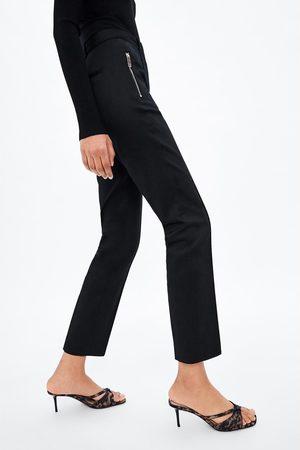 Zara Pantaloni a sigaretta con cerniera