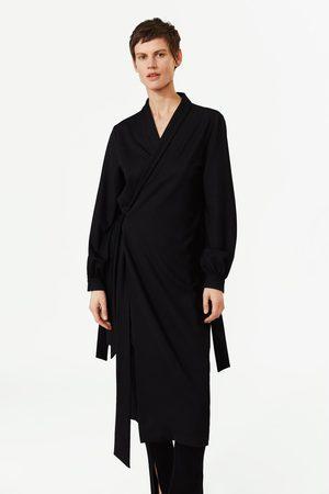 Zara Vestito chemisier incrociato