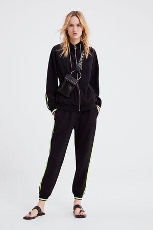 Zara Pantaloni jogger con striscia laterale