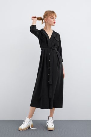 Zara Vestito lungo con cintura