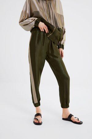 Zara Pantaloni jogger color block