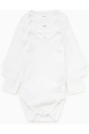 Zara Pack tre body basic maniche lunghe