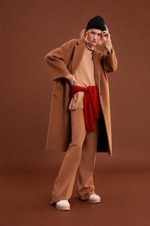 Zara Cappotto lungo in pelliccia sintetica