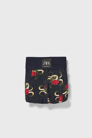 Zara Boxer stampati rose