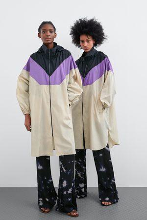 Zara Impermeabile color block ripiegabile