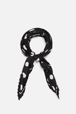 Zara Donna Sciarpe - Foulard plissettato a pois