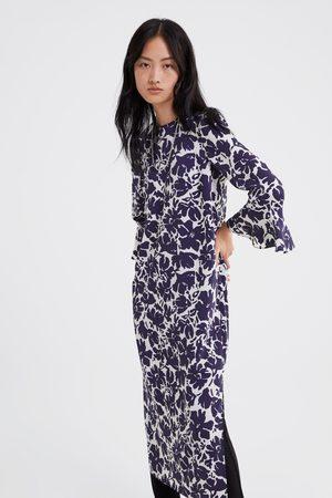 Zara Vestito stampato maniche con volant