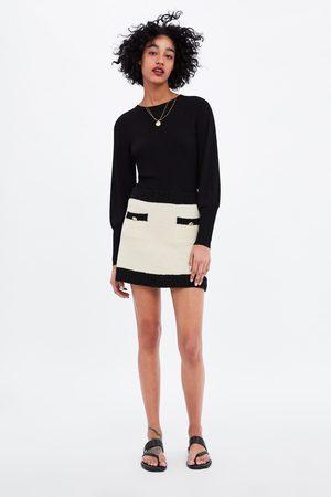 Zara Minigonna con bordi a contrasto
