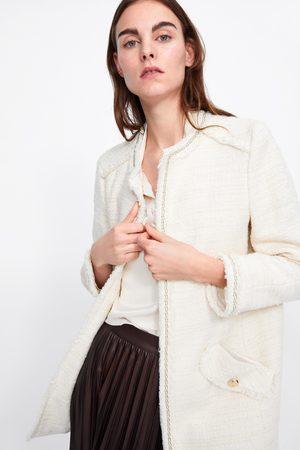 Zara Cappotto in tweed con catene