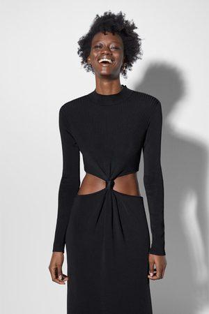Zara Vestito lungo cut out nodi