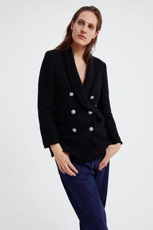 Zara Blazer bottone gioiello