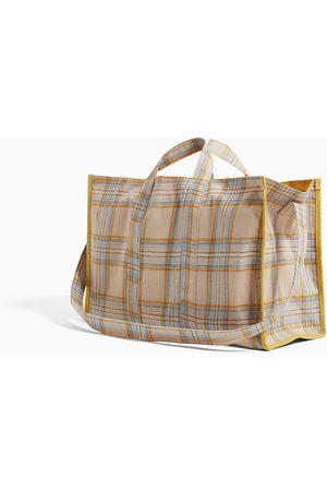 Zara Shopper a quadri in tessuto c78885927741