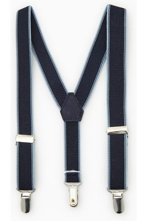 Zara Embellished striped braces