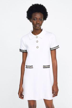 Zara Vestito bottone perla